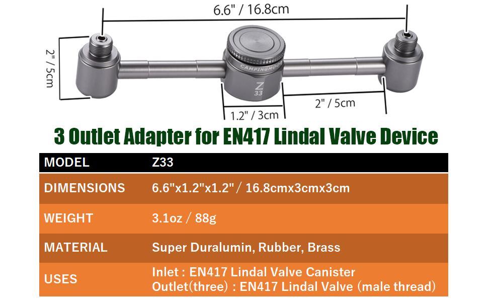 EN417 Lindal Valve adapter