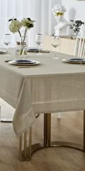 taupe tablecloth