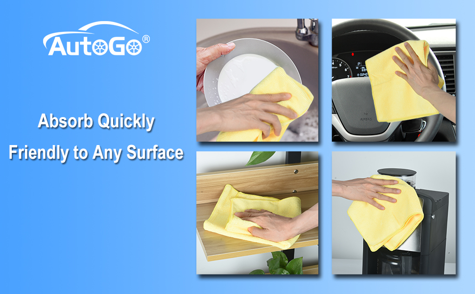 microfiber cleaning cloth pack of 8 -- 4