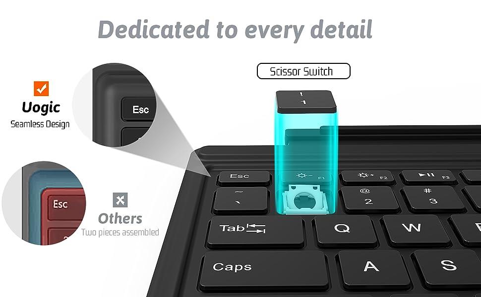 surface pro keyboard seamless design