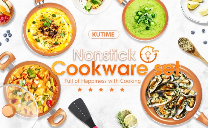 nonstick pan and pot set great nonstick performance for family cooking