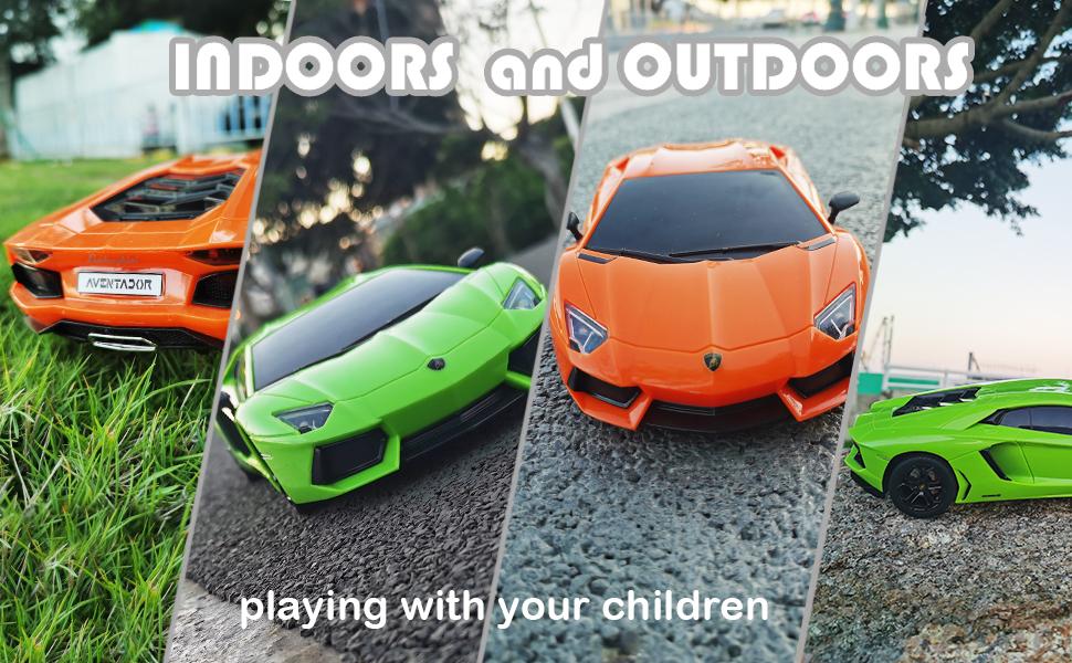 remote control car lamborghini inddoors and outdoors
