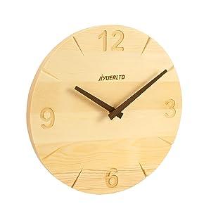 silent clock solid wood clock wall Decorative clock modern clcok art