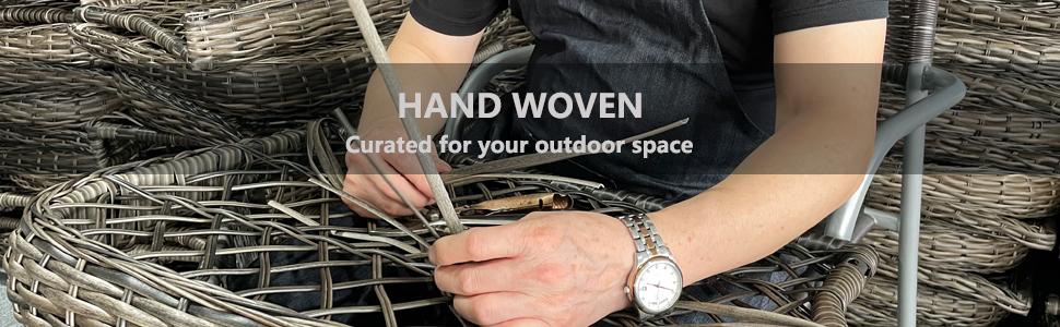 7 Piece Lawn Garden Outdoor Patio Furniture Sets Brown Wicker Ratten Sectional Sofa Conversation Set