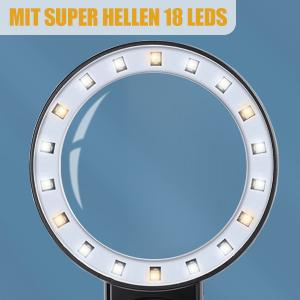 Lupe mit 18 Led Licht