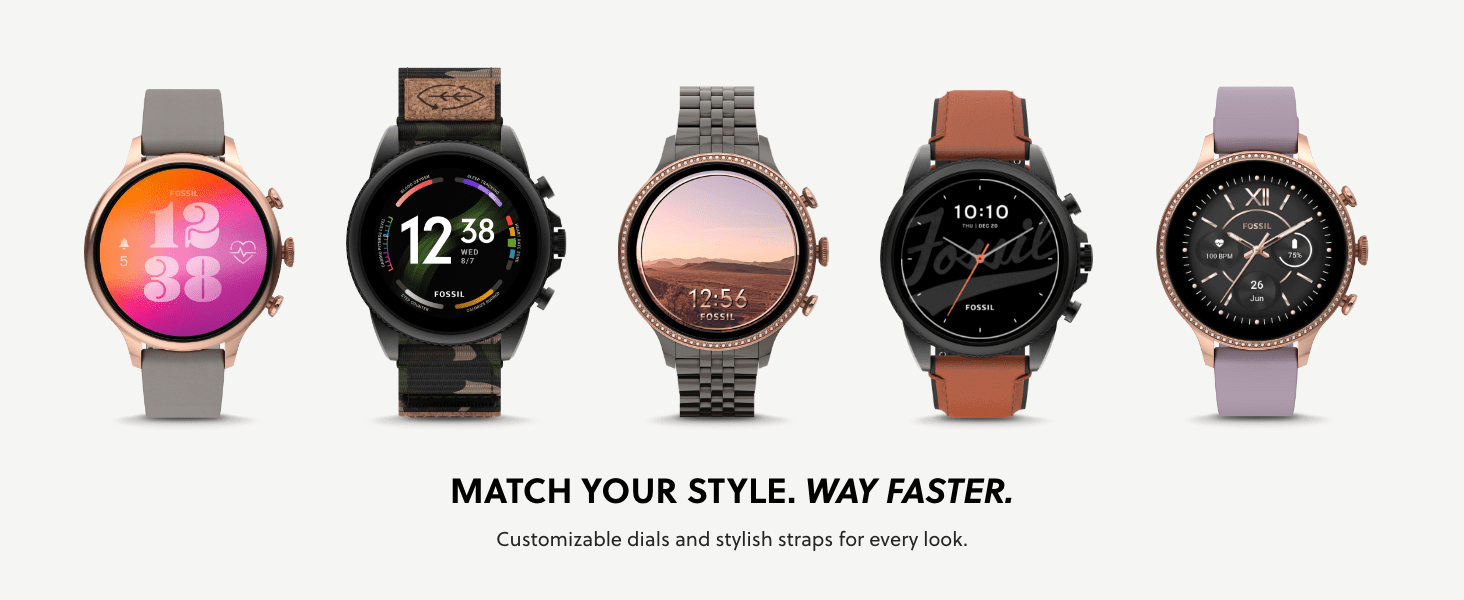 Fossil Gen 6 Smart watch has customizable dials and many personalization options
