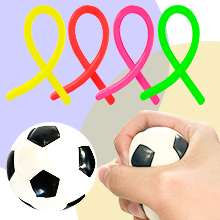 Stretchy Strings and Football Stress Ball