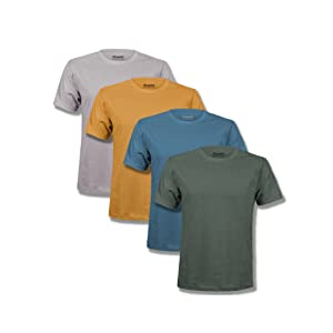 t shirts pack men soft premium classic tshirts multipack kingsted grey blue yellow green olive azure