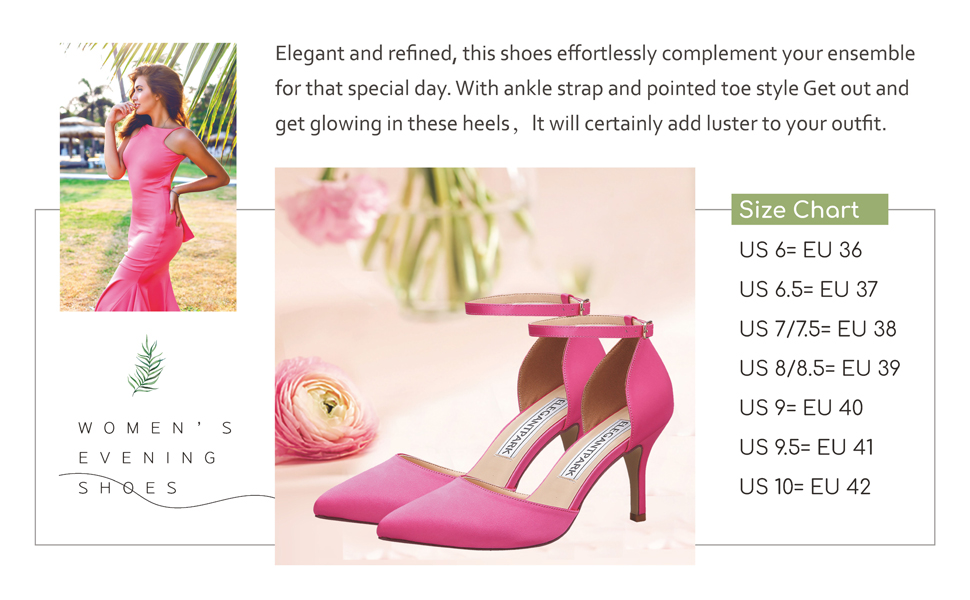 pink heels for women high heels ankle strap evening dress party shoes wedding bridal pumps
