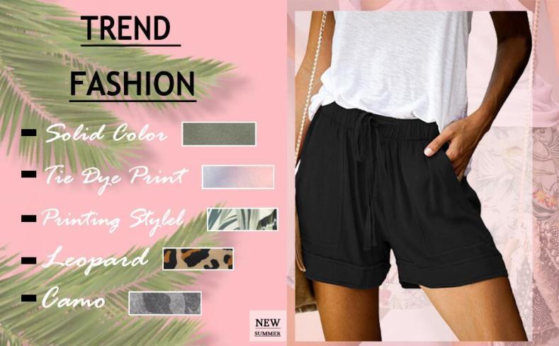 women casual summer beach shorts