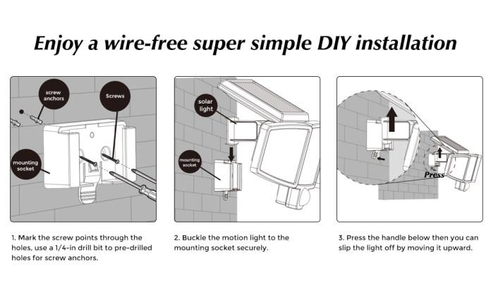 Easy install solar light