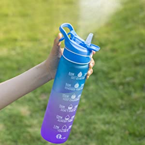 water bottle with spray