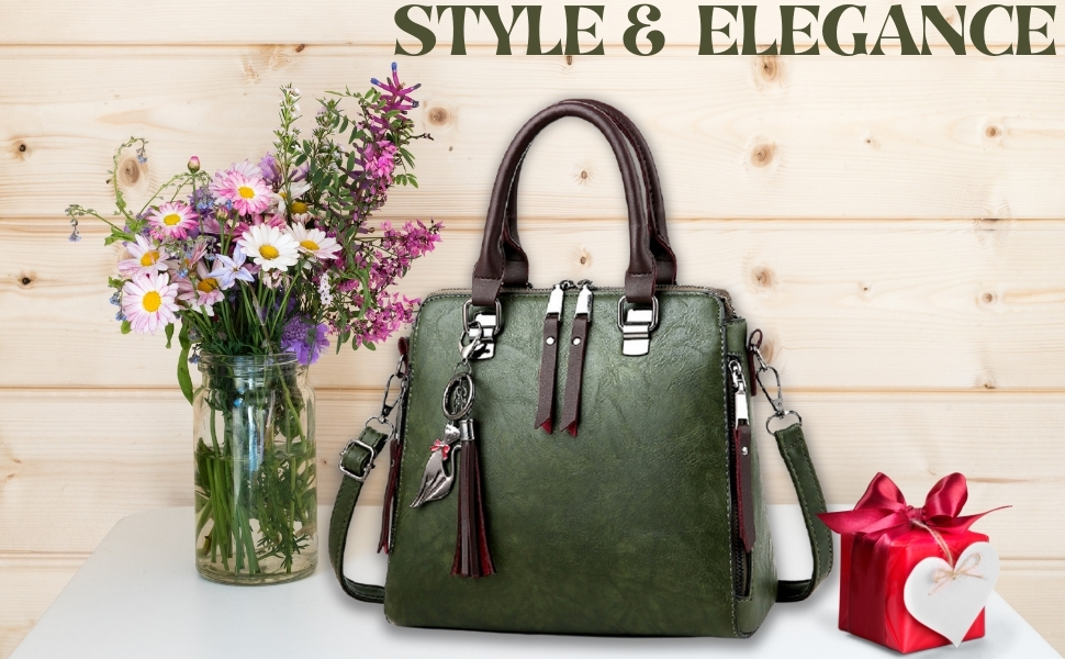 Stylish Trendy Women Shoulder Sling Top Handle Handbag Purse Gift