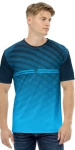 NEXSP056, JERSEY FOR MEN, BLUE AND NEAVY BLUE COLOR COMBO IN SINGLE JERSEY