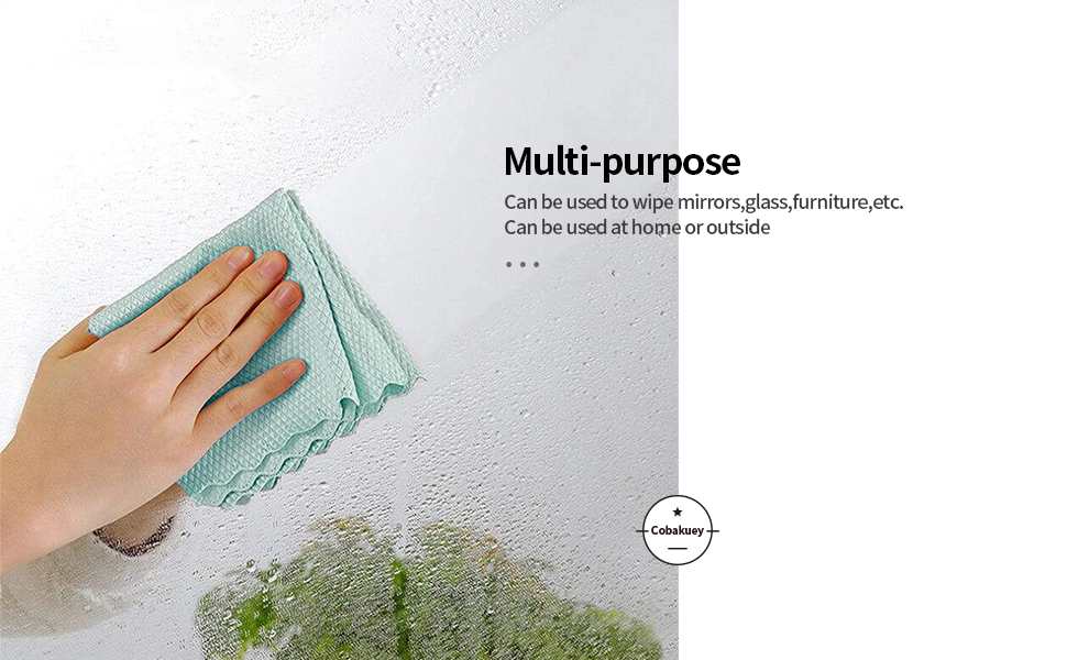 4.Fish Scale Microfiber Cleaning Cloth