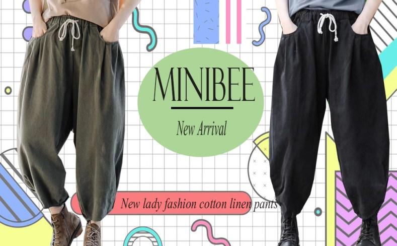 Minibee cotton linen pants