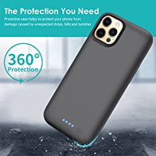 protective battery case for 12 pro max