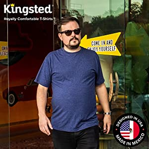kingsted mens t shirts made in mexico