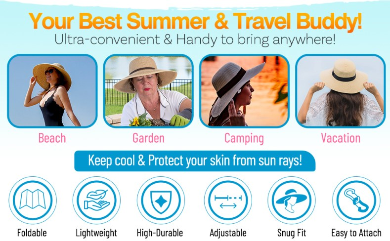 hat women hats sun beach floppy large summer womens brim wide straw big head uv protection black upf