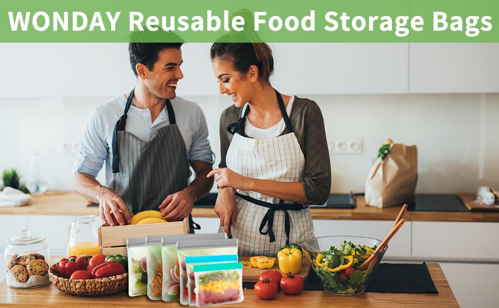 WONDAY Reusable Food Storage Bags