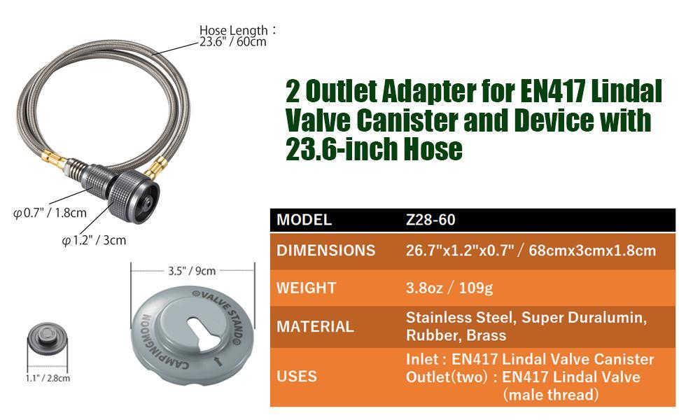 adapter for en417 lindal valve