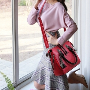 Vismiintrend Spacious Stylish Handbag Top Handle Bag Sling Bag for Women
