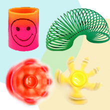 Coil Spring Toy and Fidget Spinner