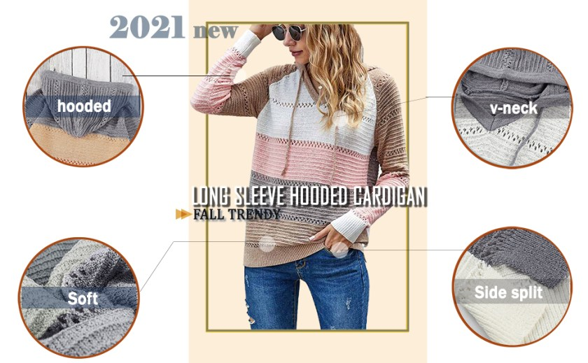 hole knitted sweater women