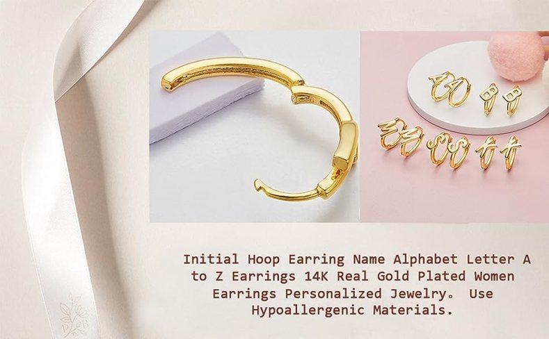 Letter A to Z Alphabet Earrings