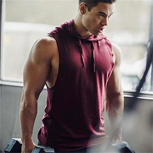 Men's Workout Hooded Tank Tops