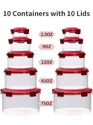 food storage containers with lis