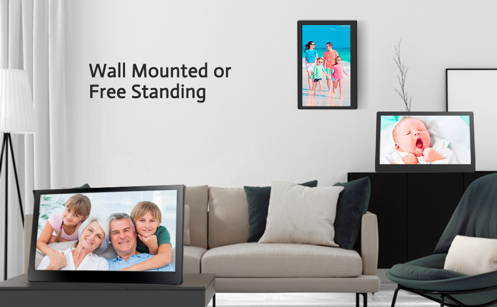 A wall-mountable smart frame that is truly smart