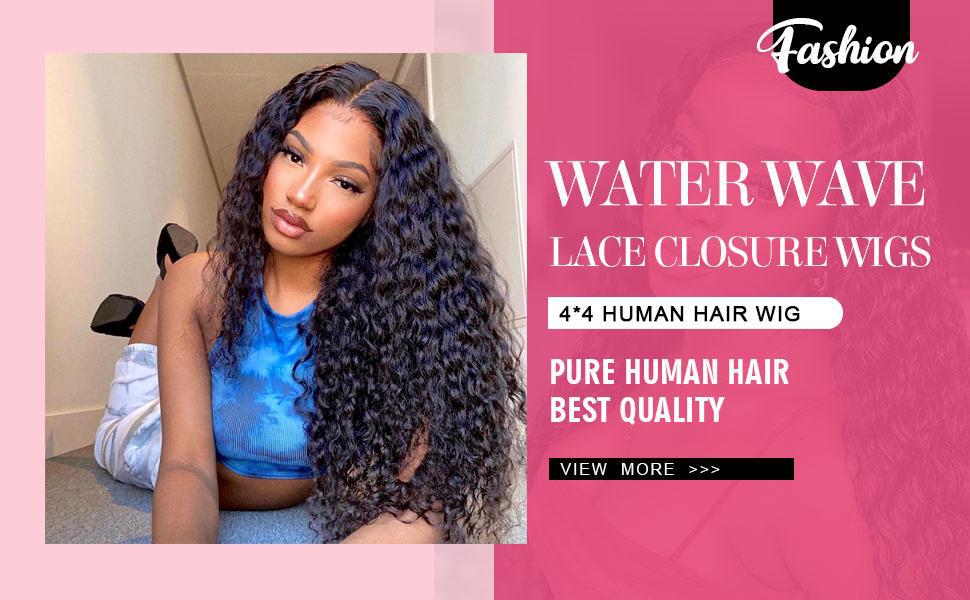 human hair wigs water wave