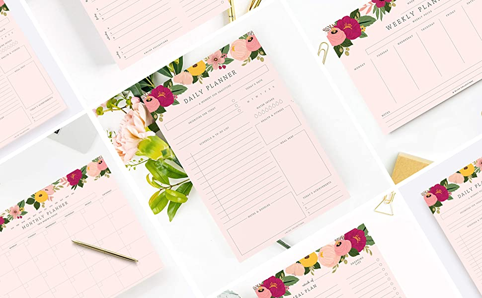 Pink Blush Floral Collection Collage