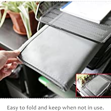 Monitor Cover can be easily folded and stored when not in use.
