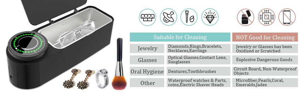 ultrasonic jewelry cleaner with parameters