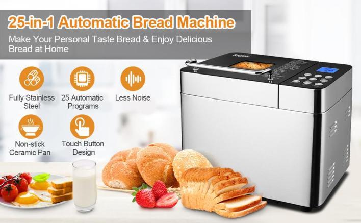 25-in-1 Automatic Bread Machine