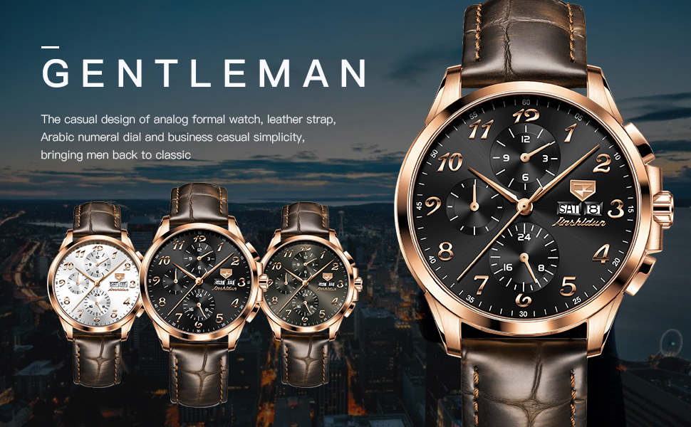 Men Mechanical Chronograph Watches for Mens