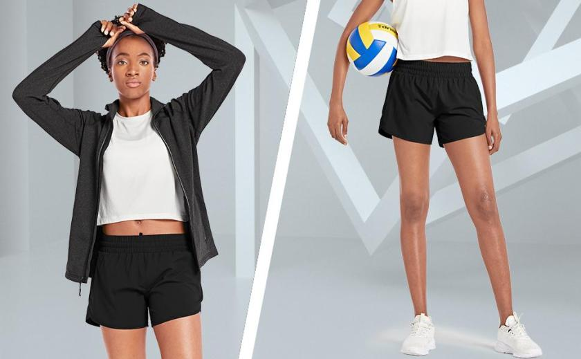 women short running shorts