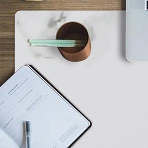 KINGFOM Desk Pad Office Desktop Protector PU Leather Desk Mat Blotters