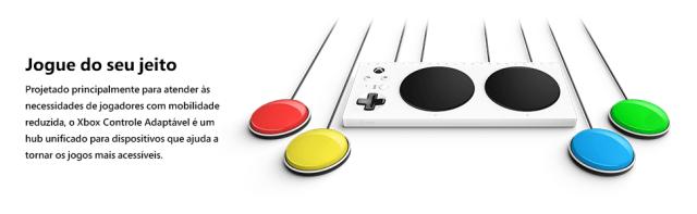controle adaptavel xbox com botões