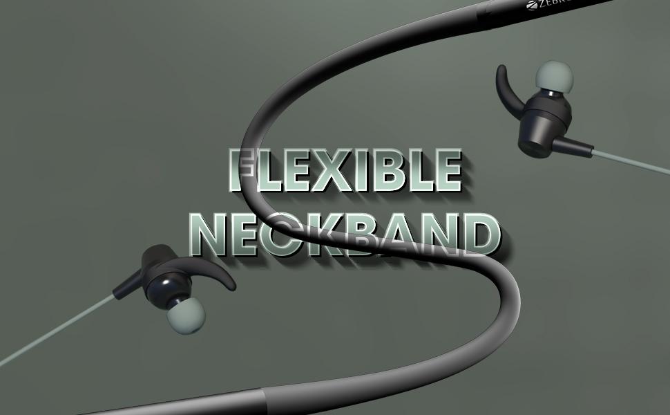 neckband, zebronics neckband, wireless neckband earphone, neckband earphone,zeb yoga 90 plus