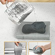 Excellent water absorption of fish scale microfiber cleaning cloth