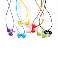 colored earbuds for kids