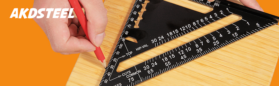 Carpenter Square Rafter Square Drafting Protractor Metal Triangle