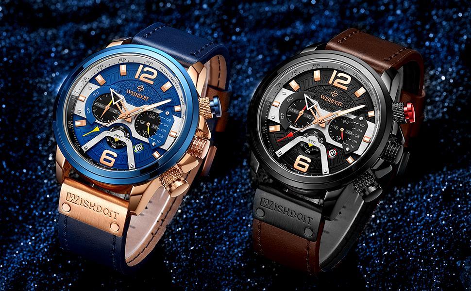 Chronograph Multi-Function Military Quartz Movement Men's Watch