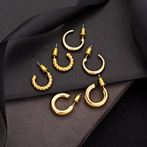 gold and silver earring for women