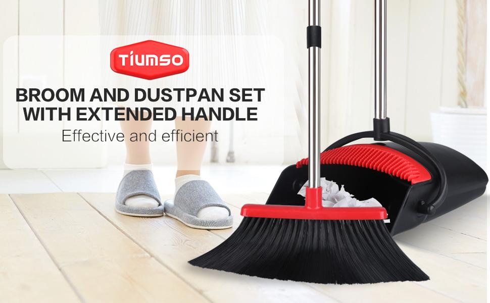 Long handle Broom and Dustpan Set