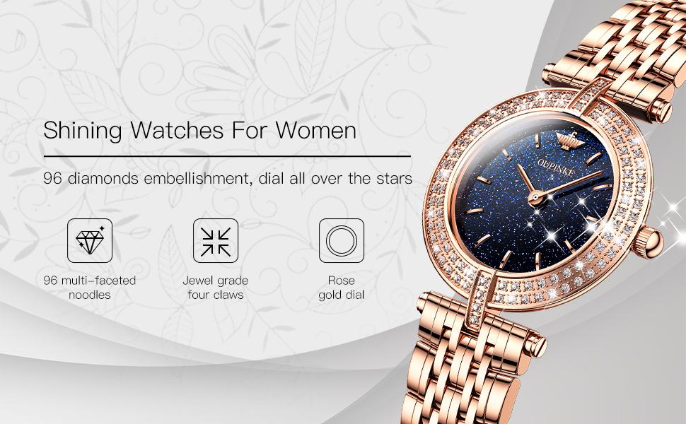 oupinke luxury rose gold watch swiss quartz