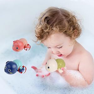 wind up bath toys swim turtles
